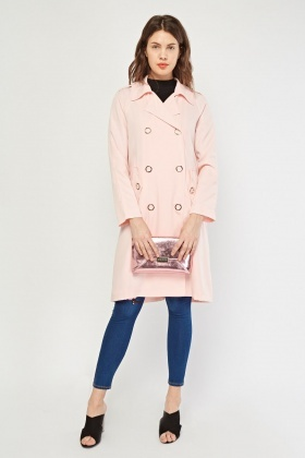 Lapel Front Midi Duster Coat