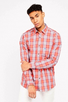 Long Sleeve Checkered Shirt