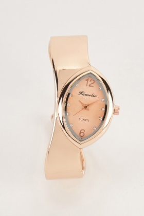 Slanted Bangle Style Watch