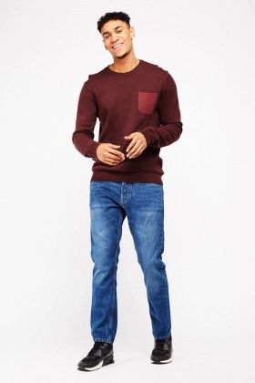 Slim Fit Denim Blue Jeans