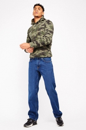 Regular Fit Denim Blue Jeans