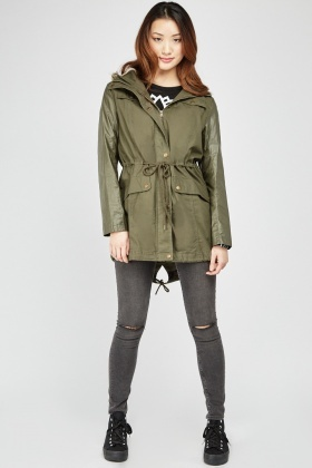 Faux Fur Hooded Parker Jacket
