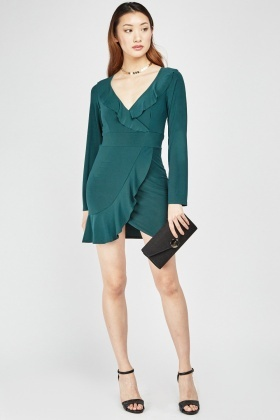 Frilled Wrap Dress