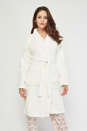 Micro Fleeced Belted Dressing Gown