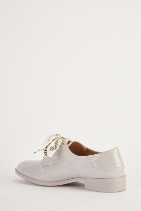 Ribbon Lace Up PVC Shoes