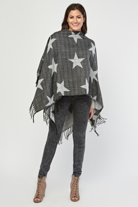 Star Patterned Poncho