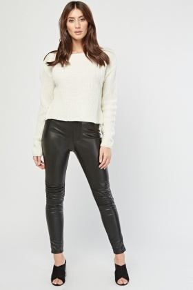 Boat Neck Herringbone Knit Jumper