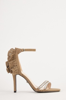 Frill Back Detail High Heels