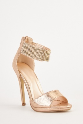 Metallic Encrusted High Heels