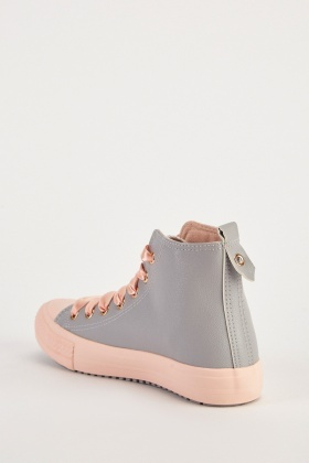 Two-Tone High Top Sneakers