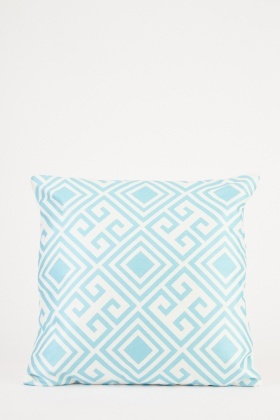 Lattice Printed Cushion