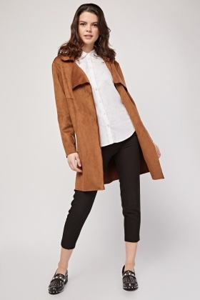 Double Breasted Long Duster Coat