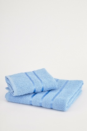 Light Blue Set Of 2 Towels
