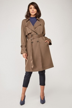 Structered Midi Trench Coat