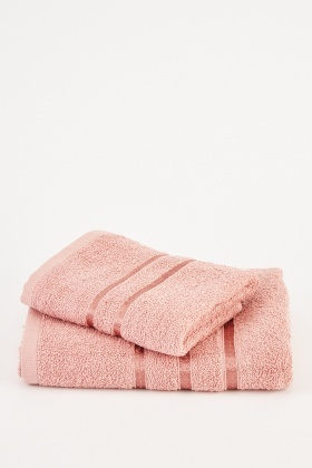 Set Of 2 Dusty Pink Towels