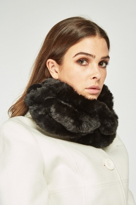 Faux Fur Spiral Snood