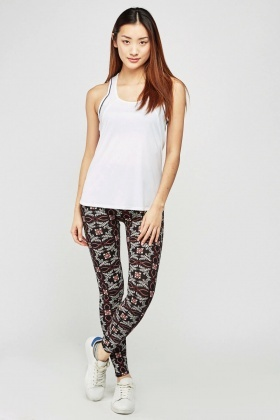 Printed Basic Skinny Leggings