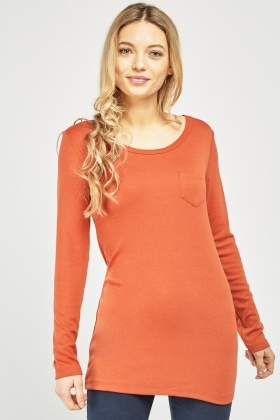 Single Pocket Front Jersey Top