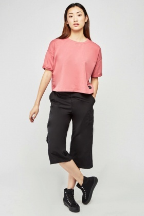 Wide Leg Capri Trousers