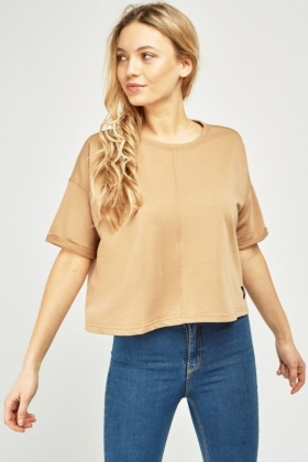 Casual Short Sleeve Crop Top