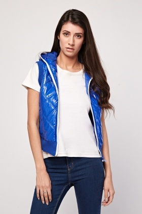 Vinyl Overlay Quilted Gilet