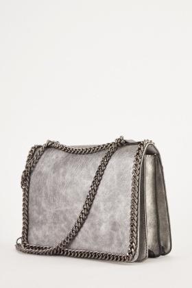 Metallic Chain Cross-Body Bag - Just £5 08c2de1831a00