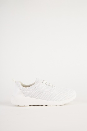 Perforated Diamond Patterned Trainers 1556942ee6