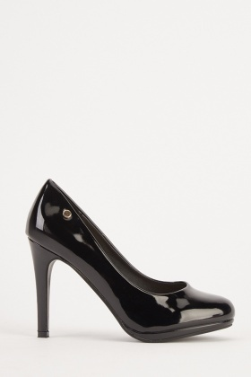 PVC Shine Heeled Pumps