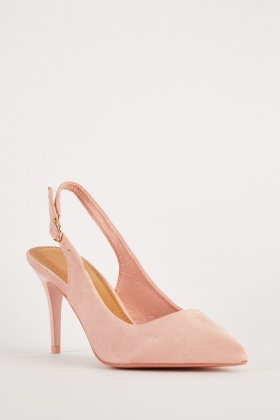 81f902960f9b Suedette Slingback Pointed Toe Heels - Just £5