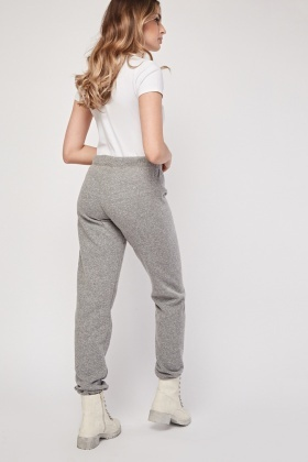 Speckled Grey Casual Joggers