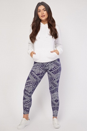 Basic Bandana Print Leggings