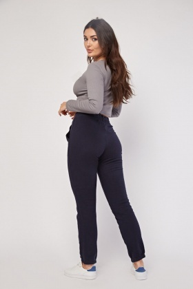 Casual Elasticated Hem Joggers