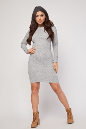 Speckled Ribbed Bodycon Dress
