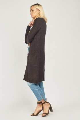 Bobble Textured Midi Cardigan