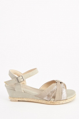 Metallic Criss-Cross Sandals