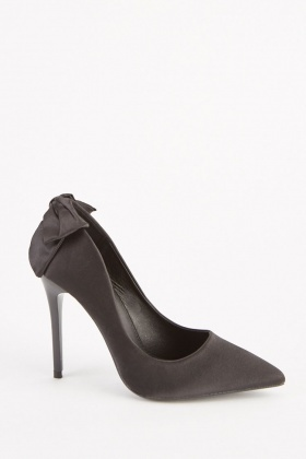 812d908650a Sateen Bow Back Court Heels