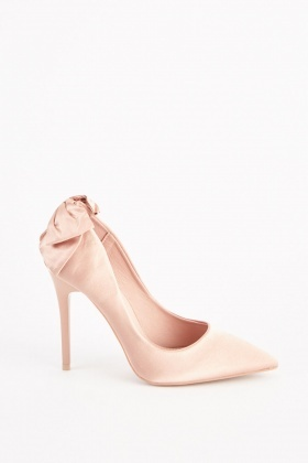 Sateen Bow Back Court Heels