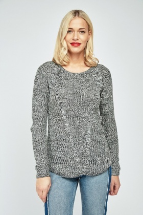 Casual Speckled Knit Jumper