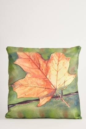 Graphic Leaf Printed Cushion