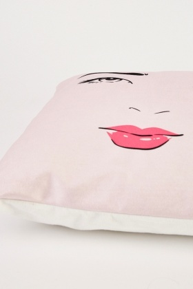 Winked Eyes Print Cushion