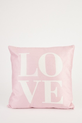 Logo Print Front Cushion