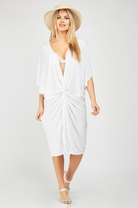 Low Plunge Twisted Beach Cover Up