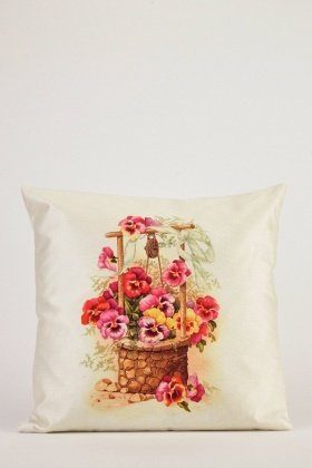 Vintage Flower Print Cushion