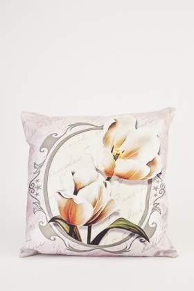 Faded Print Cushion