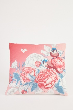 Floral Bird Printed Cushion