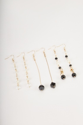 Pack Of 3 Pairs Of Dangle Earrings