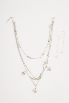 Starry Night Necklace And Earrings Set