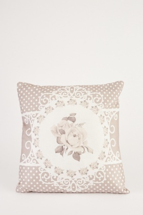 Vintage Border Print Cushion