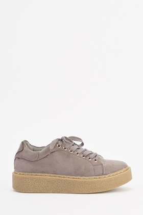 Chunky Sole Suedette Trainers