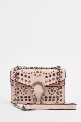 Horse Shoe Front Encrusted Bag